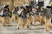 Imperatriz Leopolinense Samba School, Carnival, Rio de Janeiro, Brazil, 26th February 2017. Carnival dancers dressed as Indians.