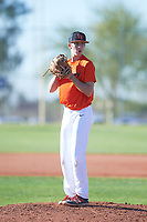 Quintin Kirch (44), from Indianapolis, Indiana, while playing for the Orioles during the Under Armour Baseball Factory Recruiting Classic at Red Mountain Baseball Complex on December 28, 2017 in Mesa, Arizona. (Zachary Lucy/Four Seam Images)