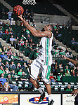North Texas Mean Green guard Alzee Williams (3) in action during the NCAA  basketball game between the St. Gregory Cavilers and the University of North Texas Mean Green at the North Texas Coliseum,the Super Pit, in Denton, Texas. UNT defeated St. Gregory's 81 to 52...