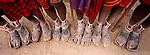 Feet of Samburu tribesmen, Kenya