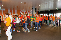 September 13, 2014, Netherlands, Amsterdam, Ziggo Dome, Davis Cup Netherlands-Croatia, Entrance<br /> Photo: Tennisimages/Henk Koster