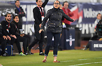 JACKSONVILLE, FL - NOVEMBER 10: Amelia Valverde manager of the Costa Rican women's national team paces the sidieline during a game between Costa Rica and USWNT at TIAA Bank Field on November 10, 2019 in Jacksonville, Florida.