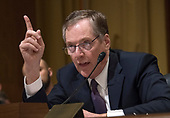 "Robert Lighthizer, United States Trade Representative, testifies before the US Senate Committee on Finance on ""The President's 2018 Trade Policy Agenda"" on Capitol Hill in Washington, DC on Thursday, March 22, 2018.<br /> Credit: Ron Sachs / CNP"
