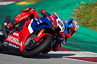 1st April 2021; Circuit de Barcelona Catalunya, Barcelona, Spain; FIM Superbike World Championship Testing; Leon Haslam of the Team HRC rides the Worldsbk Honda CBR1000RR R