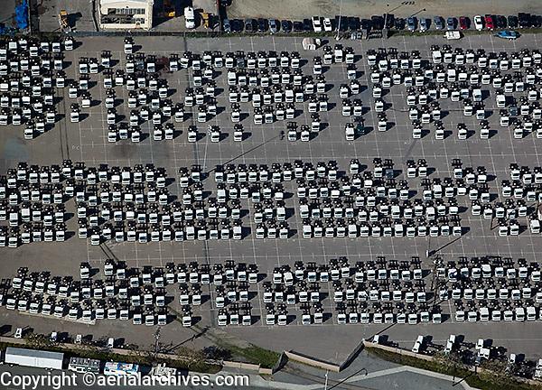 aerial photograph truck imports San Diego, California