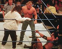 Triple H  Mike Foley  The Rock 1998                                                  Photo by  John Barrett/PHOTOlink