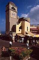 Italien, Capri, Piazza Umberto I = Piazzetta in Ort Capri