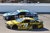 Monster Energy NASCAR Cup Series<br /> FireKeepers Casino 400<br /> Michigan International Speedway, Brooklyn, MI USA<br /> Sunday 18 June 2017<br /> Daniel Suarez, Joe Gibbs Racing, STANLEY Toyota Camry and Ricky Stenhouse Jr, Roush Fenway Racing, Fifth Third Bank Ford Fusion<br /> World Copyright: Nigel Kinrade<br /> LAT Images