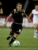 23 July 2009:  Tiffeny Milbrett of the FC Gold Pride in action during the game against LA Sol at Buck Shaw Stadium in Santa Clara, California.   FC Gold Pride tied Los Angeles Sol, 0-0.