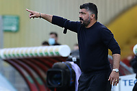 Gennaro Gattuso coach of SSC Napoli<br /> during the Serie A football match between Benevento Calcio and SSC Napoli at stadio Ciro Vigorito in Benevento (Italy), October 25th, 2020. <br /> Photo Cesare Purini / Insidefoto