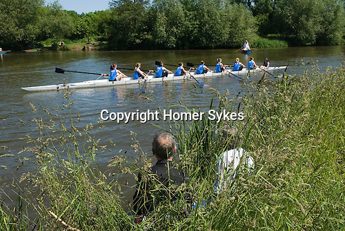 """Oxford University Rowing Clubs Eights Week. Rowing races on the River Isis Oxford. (actually the River Thames). Summer Eights is a """"bumps race"""" intercollegiate rowing regatta takes place end of May in Trinity Term."""