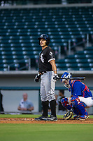 AZL White Sox center fielder Jose Garcia (7) at bat against the AZL Cubs on August 13, 2017 at Sloan Park in Mesa, Arizona. AZL White Sox defeated the AZL Cubs 7-4. (Zachary Lucy/Four Seam Images)