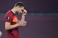 Edin Dzeko of AS Roma reacts during the Europa League round of 32 2nd leg football match between AS Roma and Sporting Braga at stadio Olimpico in Rome (Italy), February, 25th, 2021. Photo Andrea Staccioli / Insidefoto