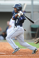 Pulaski Mariners center fielder Jamal Austin #1 swings at a pitch during  a  game  against the Kingsport Mets at Hunter Wright Stadium on August 9, 2011 in Kingsport, Tennessee. Kingsport won the game 2-1.   (Tony Farlow/Four Seam Images)