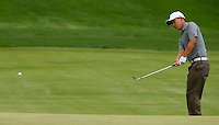 PGA golfer Anthony Kim chips up to the green during the 2008 Wachovia Championships at Quail Hollow Country Club in Charlotte, NC.