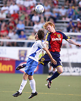 Ned Grabavoy and Kenny Cutler in the 0-0 draw at Rice Eccles Stadium in Salt Lake City, Utah on June 18, 2008.