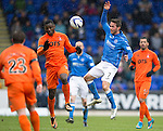 St Johnstone v Kilmarnock.....28.02.15<br /> Chris Millar and Tope Obadeyi<br /> Picture by Graeme Hart.<br /> Copyright Perthshire Picture Agency<br /> Tel: 01738 623350  Mobile: 07990 594431