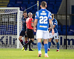 St Johnstone v Ross County…..29.12.19   McDiarmid Park   SPFL<br />Referee Bobby Madden sends off Brian Graham<br />Picture by Graeme Hart.<br />Copyright Perthshire Picture Agency<br />Tel: 01738 623350  Mobile: 07990 594431