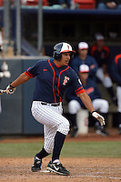 February 21 2010: Carlos Lopez of Cal. St. Fullerton during game against Cal. St. Long Beach at Goodwin Field in Fullerton,CA.  Photo by Larry Goren/Four Seam Images
