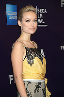 April 21, 2012 Olivia Wilde attends the premiere of  Help Wanted Shorts Program -2012 Tribeca Film Festival  at the AMC Loews Village, 66 Third Avenue in New York City. Credit: RW/MediaPunch Inc.