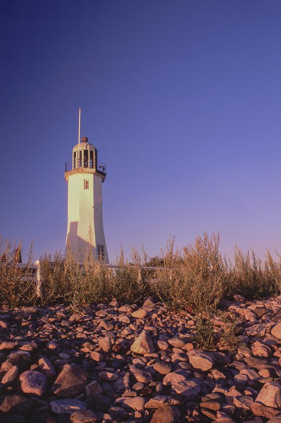 Scituate Harbor Lighthouse, Cedar Point, Scituate, Massachusetts, US