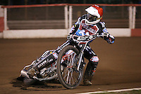 Ben Morley of Lakeside Hammers - Lakeside Hammers vs Leicester Lions, Elite League Speedway at the Arena Essex Raceway, Pufleet - 04/04/14 - MANDATORY CREDIT: Rob Newell/TGSPHOTO - Self billing applies where appropriate - 0845 094 6026 - contact@tgsphoto.co.uk - NO UNPAID USE