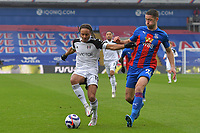 Bobby Reid of Fulham battles with Gary Cahill of Crystal Palace during the Premier League behind closed doors match between Crystal Palace and Fulham at Selhurst Park, London, England on 28 February 2021. Photo by Vince Mignott / PRiME Media Images.