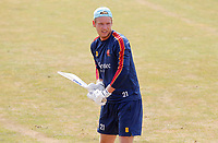 Tom Westley of Essex knocks up in the nets prior to Essex CCC vs Surrey CCC, Bob Willis Trophy Cricket at The Cloudfm County Ground on 9th August 2020