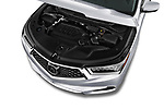 Car stock 2020 Acura MDX Standard 5 Door SUV engine high angle detail view