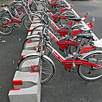 Bicicletas de aluguel da prefeitura de Berlin. Alemanha. 2011. Foto de Juca Martins.