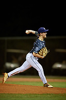 Davis Rokose during the WWBA World Championship at the Roger Dean Complex on October 19, 2018 in Jupiter, Florida.  Davis Rokose is a left handed pitcher from Johns Creek, Georgia who attends Chattahoochee High School and is committed to Mississippi State.  (Mike Janes/Four Seam Images)