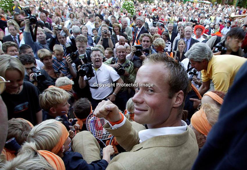 2003, 06 09, Netherlands, Alphen aan den Rijn, honoring  Martin Verkerk (NED)after his final in Roland Garros Paris.