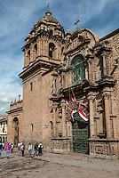 Peru, Cusco.  Entrance to La Merced Church and Monastery, 17th. Century.