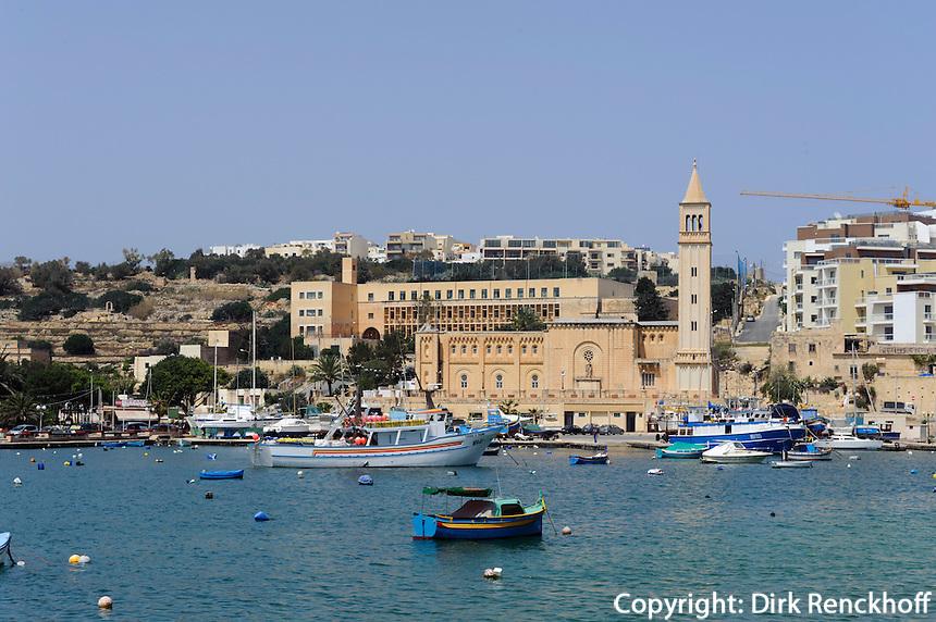 Bucht von Marsascala, Malta, Europa
