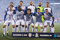 Columbus, Ohio - Friday, November 11, 2016: United States Starting Eleven during a USMNT vs Mexico WCQ at Mapfre Stadium. Mexico defeated the USA 2-1.