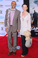 """HOLLYWOOD, LOS ANGELES, CA, USA - MARCH 13: Bernard White, Jackie Katzman at the World Premiere Of Marvel's """"Captain America: The Winter Soldier"""" held at the El Capitan Theatre on March 13, 2014 in Hollywood, Los Angeles, California, United States. (Photo by Xavier Collin/Celebrity Monitor)"""