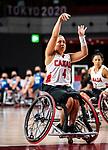 Rosalie Lalonde, Tokyo 2020 - Wheelchair Basketball // Basketball en fauteuil roulant.<br /> Canada takes on the USA in the wheelchair basketball quarterfinal // Le Canada affronte les États-Unis en quart de finale de basketball en fauteuil roulant. 31/08/2021.