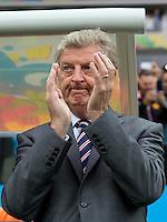 England manager Roy Hodgson applauds