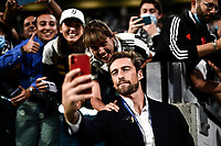 29th September 2021; Turin, Italy;   Juventus FC versus Chelsea FC - UEFA Champions League;  Claudio Marchisio, former Juventus FC player, takes a selfie with fans prior to the Uefa Champions League;  Group H match between Juventus Fc and Chelsea Fc at Allianz Stadium