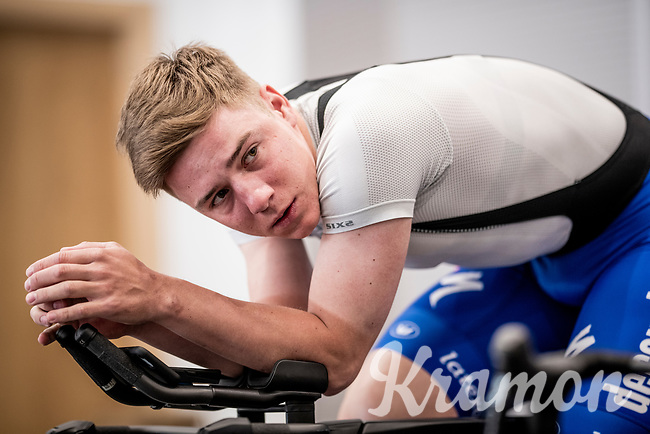 indoor turbo trainer session with Remco Evenepoel (BEL/Deceuninck-QuickStep)<br /> <br /> Team Deceuninck-QuickStep january 2020 training camp in Calpe, Spain<br />  <br /> ©kramon