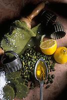 Gastronomie générale / Cuisine générale /Patisserie:  Massepains de pistache- Ingrédients  crus