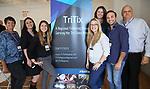 TriTix Leadership Committee: Linda Forlini (Ticket Philadelphia), Kelly Brennan (FutureTix), Sarah Hutton (Ticketmaster), Sara Chebishev (AudienceView), Stepanie McCort (Shubert Ticketing), Chris Tobia (PGA/NY Jets) Daniel Ruzow (New York City FC) during the 2019 TRITIX Forum at Arts West Building on September 19, 2019 in New York City.