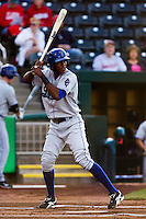 Hector Gomez (5) of the Tulsa Drillers at bat during a game against the Springfield Cardinals on April 29, 2011 at Hammons Field in Springfield, Missouri.  Photo By David Welker/Four Seam Images.