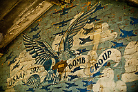 © Si Barber 07739 472 922<br /> A mural depicting the emblem of 392 Bomber Group painted during World War 2 at the then Air Base Wendling in Norfolk.