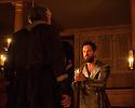 Shakespeare's Globe presents THE WINTER'S TALE, by William Shakespeare, in the Sam Wanamaker Playhouse. Picture shows: David Yelland (Antigonus) and John Light (Leontes)