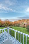 Canada, Quebec, North Hatley, B & B, Balcony View of Lake Massawippi