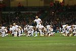 Tonga Haka<br /> <br /> Dove Men Series 2013<br /> Wales v Tonga<br /> Millennium Stadium - Cardiff<br /> 22.11.13<br /> ©Steve Pope-SPORTINGWALES