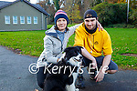Mary Warner, Robin O'Leary and Jill the dog enjoying a stroll in Killarney National Park on Saturday.