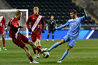 Chester, PA - Friday December 08, 2017: Andrew Gutman, Jeremy Kelly The Indiana Hoosiers defeated the North Carolina Tar Heels 1-0 during an NCAA Men's College Cup semifinal soccer match at Talen Energy Stadium.