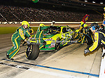 Paul Menard, driver of the (27) Quaker State/Menards Chevrolet, makes a pit stop during the Samsung Mobile 500 Sprint Cup race at Texas Motor Speedway in Fort Worth,Texas.